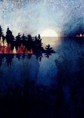 Autumn Moon Reflection