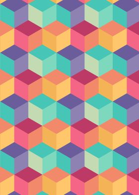 Retro Rainbow Pattern 02