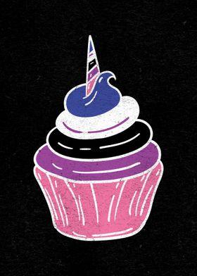 Genderfluid Cupcake