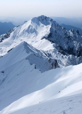 Snowy Mountain Nature