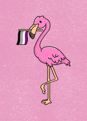 Flamingo Asexual Pride