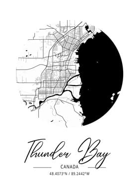 Thunder Bay Area City Map Poster Print By Tien Stencil Displate A bamboo layer for the frame and detailed laser cutting of every road, highway, pier, bridge and more! displate