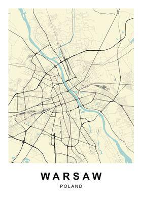Warsaw Poland City Map