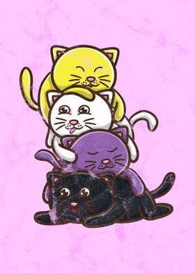 Cat Stack Nonbinary Pride