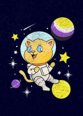 Nonbinary Cat In Space