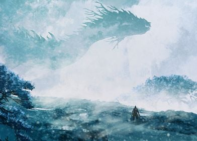 Lone Wolf vs Dragon snow