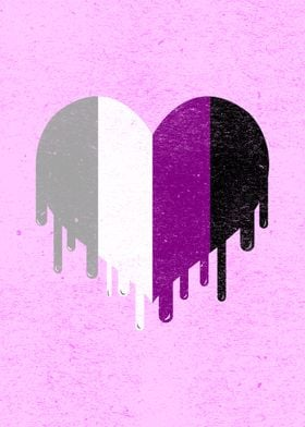 Dripping Asexual Heart