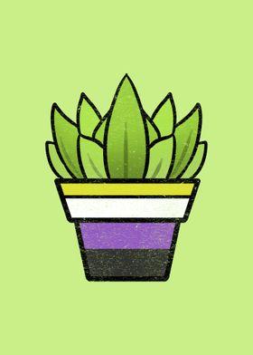 Succulent Nonbinary Pride