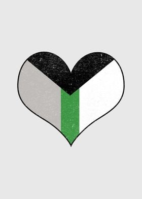 Heart Demiromantic Pride
