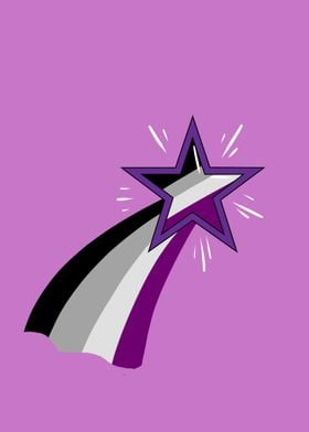 Star Asexual Pride Flag