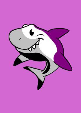 Shark Asexual Pride Flag