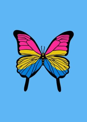 Butterfly Pansexual Pride