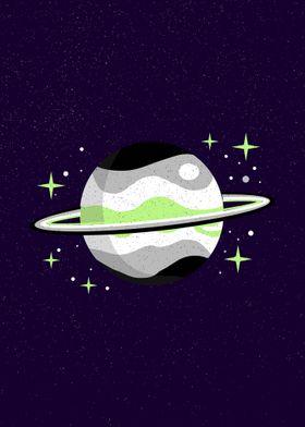 Planet Agender Pride Flag