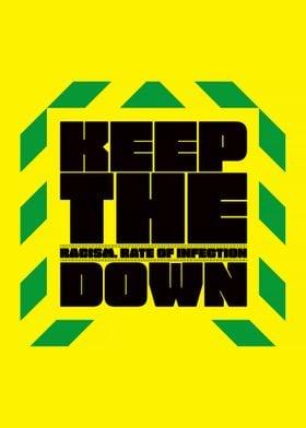 Keep The R Down BLM Art