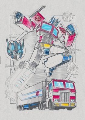 Drawing Optimus Prime