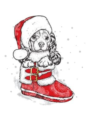 happy christmas Dogs