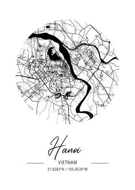 Hanoi Area City Map