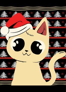 Sweet Christmas Kitten