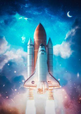 Rocket Launch Moon