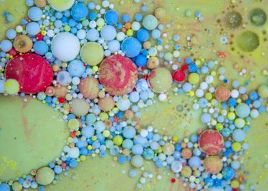 Bubbles Art Red Apple