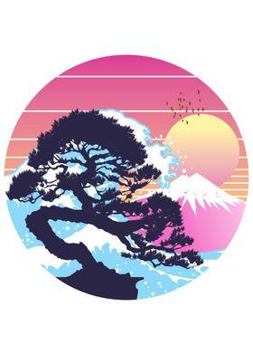 Retro waves bonsai
