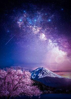Mount Fuji Milky Way