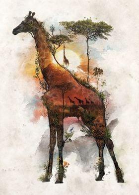 Giraffe Surreal