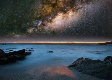 Milky Way over the coast 1