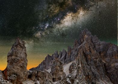 The Dolomites at night 5