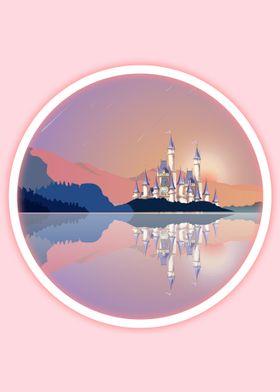 Castle reflection Mountain