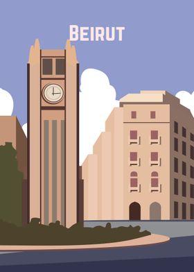 Beirut Retro poster