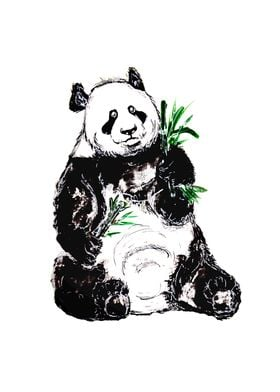 Big Panda with Bamboo