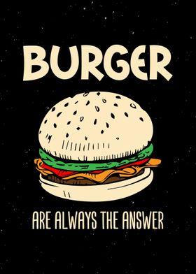 Burger Quote Wall Art