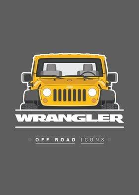 Wrangler yellow badge