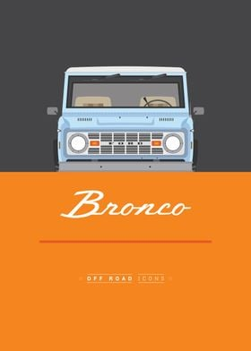 Bronco blue and orange