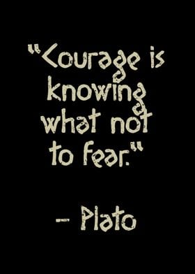 Plato quote Courage is