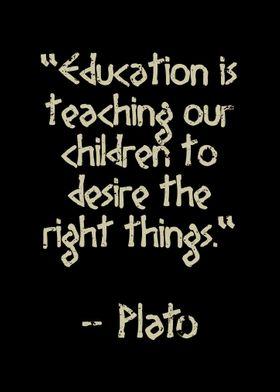 Education is teaching