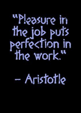 Aristotle Quote Pleasure