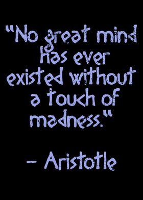 Madness Quote Aristotle