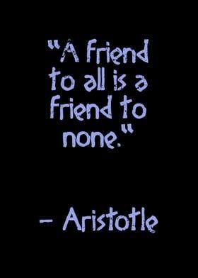 Aristotle quote Friend