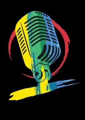 Colorful Microphone
