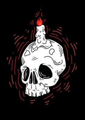 Candle light Skull