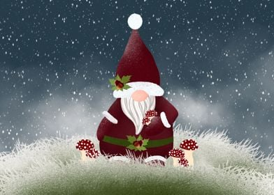 Mushroom Nordic Gnome