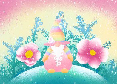 Spring Snow Nordic Gnome
