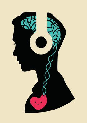 Music connects Headphones