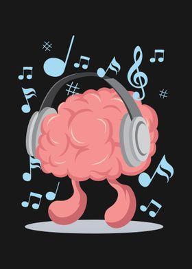 Brain is listen to music