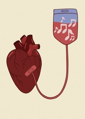 Music aids the heart