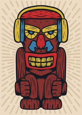 Native statue headphones
