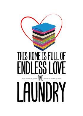 Endless Laundry Wall Decor Poster Art Print By Decoratier Qwerdenker Displate