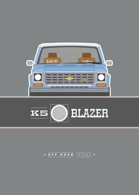 Blazer K5 blue gray